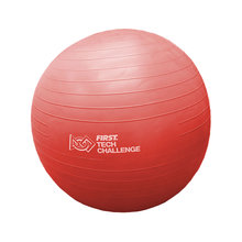 Red Exercise Ball with Pump