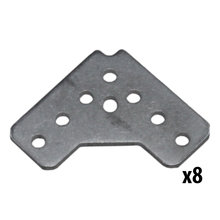 REV, 15 mm 90 Degree Bracket, 8 Pack