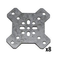 REV, 15 mm Cross Bracket, 8 Pack