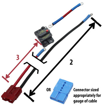 View larger image of Robot Power Cable Kit, custom lengths up to 36 in.