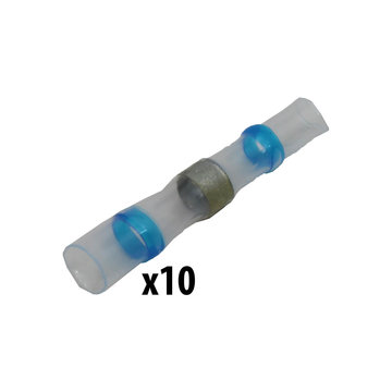View larger image of Shrink Tube Solder, Blue, 16-14 AWG, Qty 10