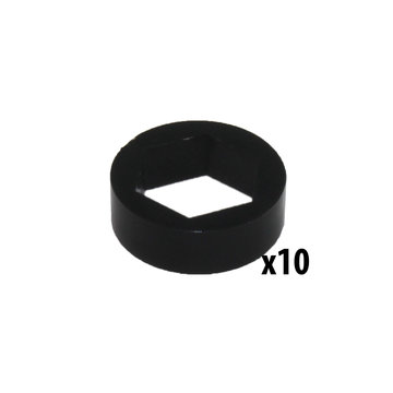 View larger image of Spacer, 1/4 in. thick, 1/2 in. Hex Bore [Qty-10]