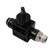 Valve, hand, 1/8 NPT, 1/4 push-in fitting